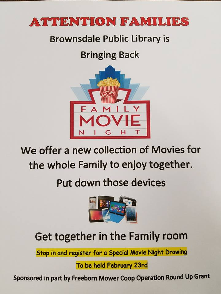 Family Movie Night | Brownsdale Public Library