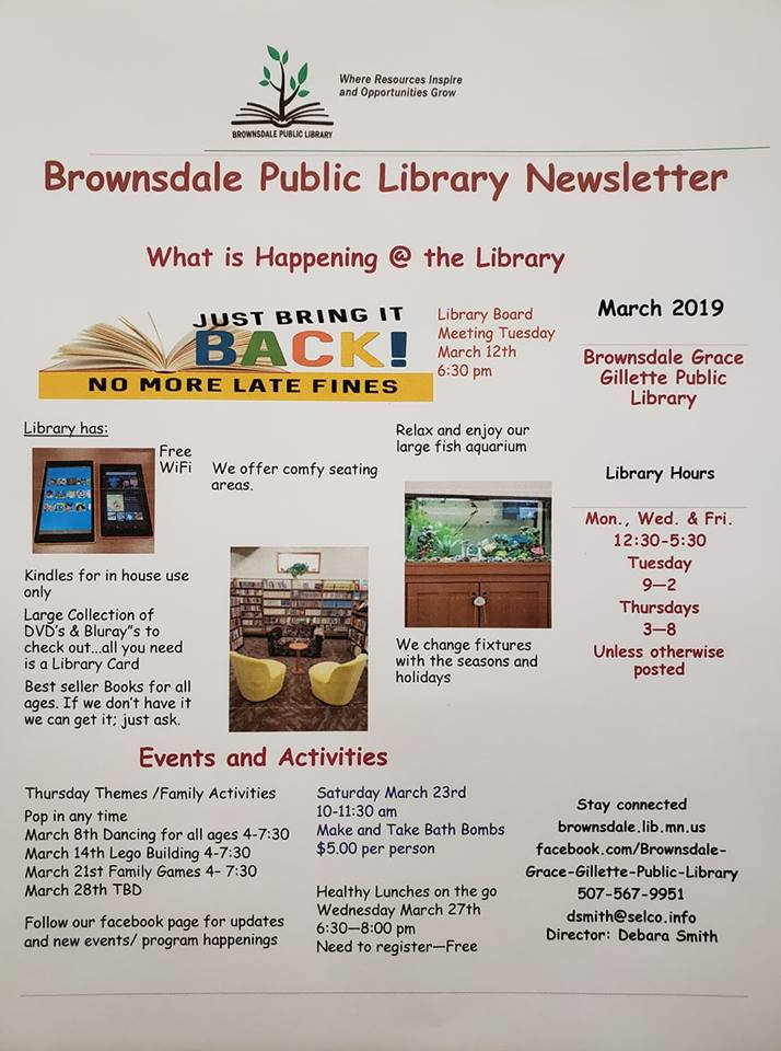 March Library Newsletter