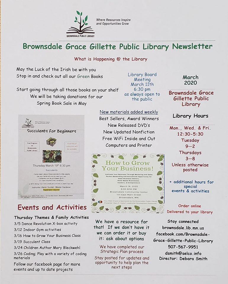 Library March Newsletter