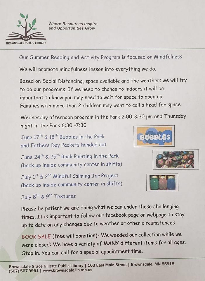 June July Programs List