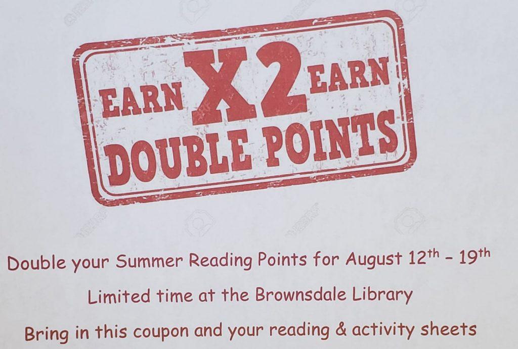 Summer Reading Bonus Points