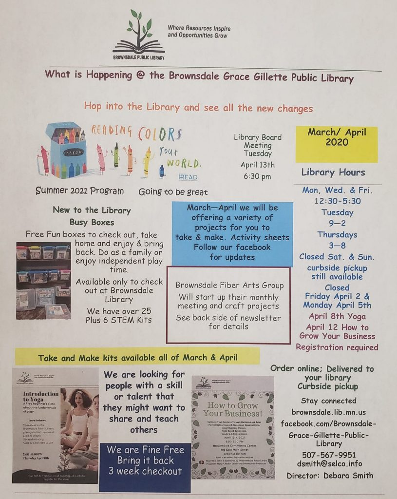 March and April Library Newsletter