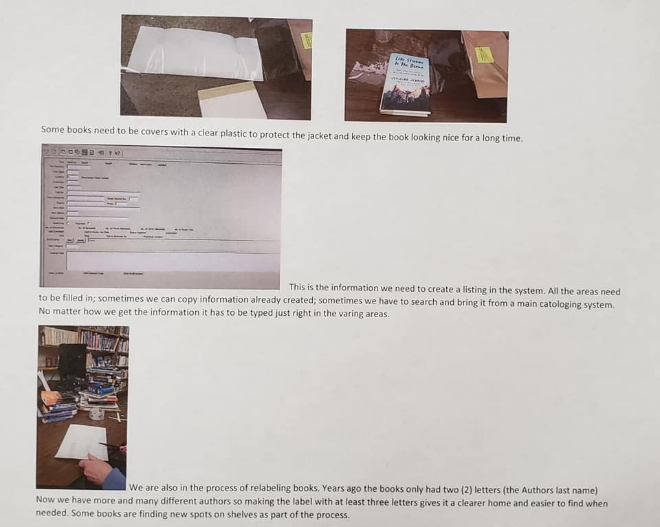 A behind the scenes look at what Librarians do. This gives a quick peek at how the items are processed and added to the system